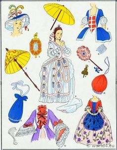 French Fashion Adornments, Parures, Jewelry under Louis XV.