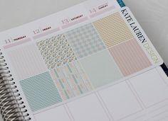 Pastel Tribal Planner Stickers for Erin Condren Planner Patterned Decorative Tribal Pastel