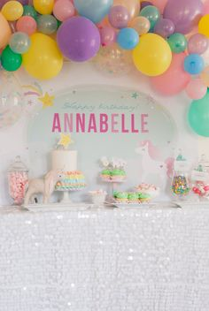 Unicorn Backdrop INSTANT DOWNLOAD 4ft Party Backdrop by ItsyBelle