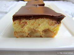 Romig vanilletoetje met cake en chocoladeganache