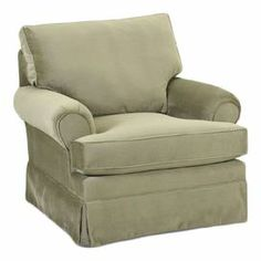 Taupe Arm Chair With A Pleated Skirt And Fiber Wred Foam Cushioning Product