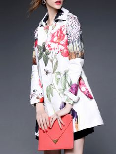 Fashion Printed Trench coat