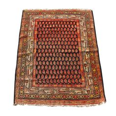 Antique Persian Wool Rug  Lovely Worn-in Colors