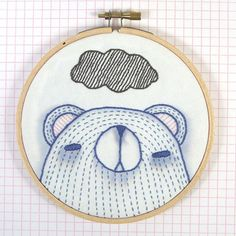from Cate Anevski's new pattern set called 'Animal Expressions.'