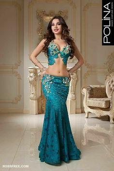 blue belly dance dress by Polina Belly Dancer Costumes, Belly Dancers, Dance Costumes, Dance Outfits, Dance Dresses, Sexy Dresses, Belly Dance Outfit, Belly Dancing Classes, Boho Stil