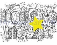 Douhe Nzzle Swear Words Printable Coloring Pages Word Swearing B