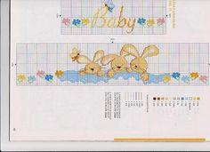 lenzuolino coniglietti che dormono punto croce