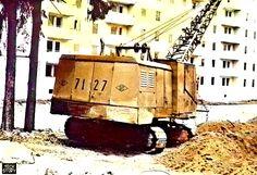 Экскаватор ЭО-4112А с драглайном. Фото 1992 года
