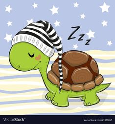 Buy Sleeping Turtle in a Hood by on GraphicRiver. Sleeping cute Turtle in a hood on a blue background Cute Turtle Drawings, Cute Turtle Cartoon, Cute Cartoon, Cute Drawings, Good Night Gif, Cute Turtles, Turtle Love, Pet Rocks, Cute Owl