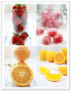 Golosinas caseras de frutas naturales