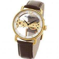 ef9048431f7 Relógio Masculino Dourado Movimento Corda importado Stuhrling Original  cod97603