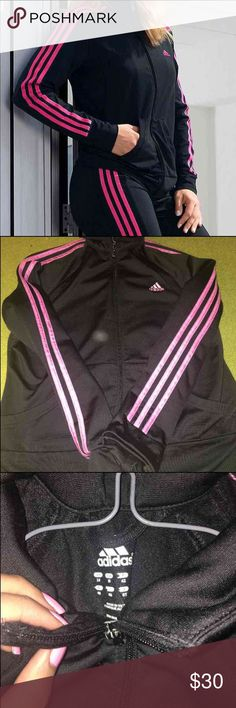 Adidas Women's Track Jacket In very good condition, only wore it a few times it literally looks like new! The only scratches it has is the zipper but not noticeable! Adidas Sweaters