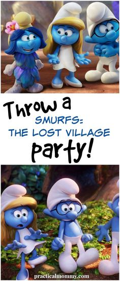 Throw A Smurfs The Lost Village Party Featured 5th Birthday Party Ideas, Birthday Diy, Birthday Party Decorations, Birthday Cakes, Birthday Parties, Smurf Village, Lost Village, Smurfette, Party Activities