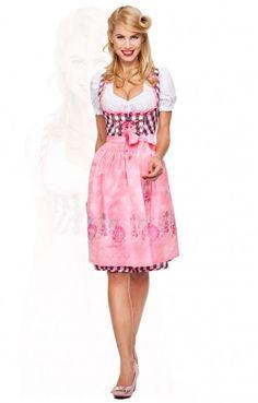German Dirndl dress oohlala!  Midi-Dirndl 2tlg. Sunny pink 60 cm German online store link