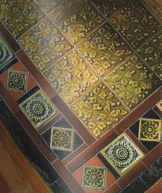 Fireplace tiles from 1881 Summit Ave home in St. Paul, MN.