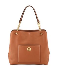 414ab8d463cb Tory Burch Chelsea Slouchy Leather Shoulder Tote Bag