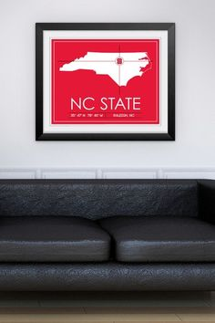 """NC State University Map Wall Art - 31"""" x 37"""" by Sports Collection on @HauteLook"""
