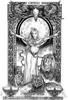 """""""Lion Queen"""" by Tom Fleming. Available as Limited ED Print $25"""