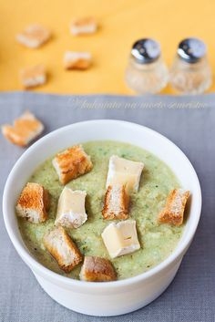 Broccoli Soup with brie