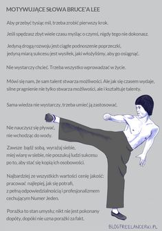 Bruce Lee ?  ale  zasady dobre Sport Inspiration, Bruce Lee, Body Language, Self Development, Better Life, Motto, Favorite Quotes, Coaching, Thoughts