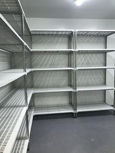 Room Shelves, Metal Fabrication, Shelving, Stainless Steel, Cool Stuff, Food, Shelves, Eten, Shelf