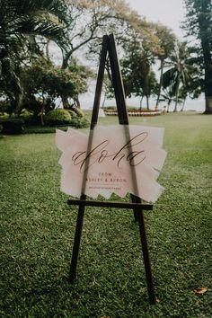 Olowalu Plantation House Wedding in Maui, Hawaii - Couple Cups