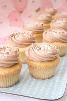Vanilla Bean Buttermilk Cupcakes with Nutella Buttercream