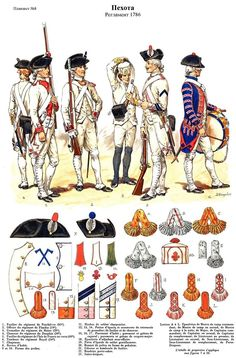 SOLDIERS- Rousselot: 1786- France: