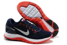 sports shoes e6c15 19237 Mens Nike LunarGlide 5 Suede Obsidian Silver White University Red Shoes Nike  Free Run 3 -