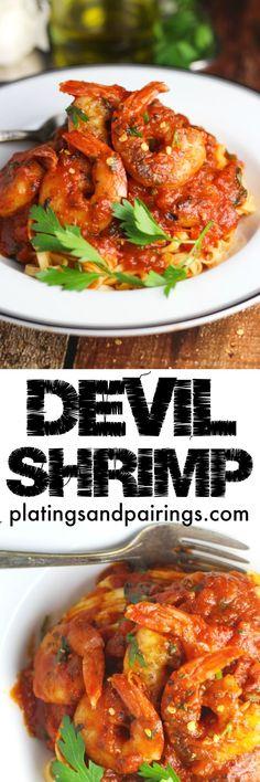 Shrimp Fra Diavolo - SO good it's EVIL!