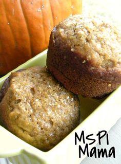MSPI Mama: Pumpkin Muffins.  1 16 oz. can pumpkin puree 1-⅔ cup sugar ⅔ cup canola oil 2 tsp. vanilla 4 eggs 3 cups flour 2 tsp. baking soda 1 tsp. salt 1 tsp. ground cinnamon ½ tsp. ground cloves ½ tsp. baking powder  350 deg 15-20min