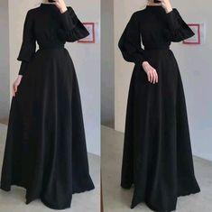 Modest Fashion Hijab, Modesty Fashion, Islamic Fashion, Muslim Fashion, Girls Fashion Clothes, Fashion Outfits, Look At You, Classy Dress, Stylish Dresses