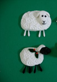 1000 images about baa baa black sheep on pinterest baa for Sheep christmas ornament craft