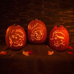 Light up the party with these spooky pumpkin carving ideas and patterns for Halloween night.
