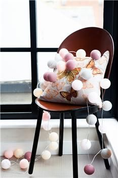 Marshmallow String Lights by Cable and Cotton made by Cable & Cotton. at BOUF Cable And Cotton Lights, Cotton Ball Lights, Globe String Lights, String Lights Outdoor, Light String, Christmas Globes, Nordic Christmas, Christmas Fairy, Happy Lights