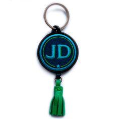 Schlüsselanhänger INITIALEN · türkis/grün · mit Tassel grün - 26 €