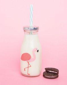 Sass & Belle – Flamingo – Flasche mit Strohhalm