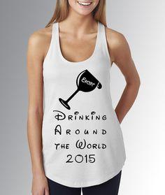 Disney World Epcot Food & Wine Festival  by CaribouClassics Festival T Shirts, Wine Festival, Disney Shirts, Disney Outfits, Theme Park Outfits, Epcot Food, Drinking Around The World, Drinking Shirts, Wine Birthday