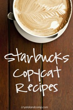 Want to make your own fancy coffeehouse drink at home tomorrow morning? Do you love Starbucks coffee but the price is a little harsh on your pocketbook? Starbucks Drinks, Starbucks Coffee, Coffee Drinks, Starbucks Recipes, Iced Coffee, Yummy Drinks, Yummy Food, Popular Recipes, Easy Recipes