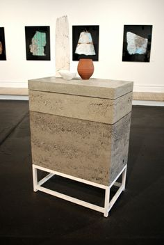 Concrete furniture piece at the Mad Art Gallery