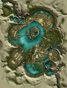 A hidden Elven Town population of 5 749 and covers 95 acres of land Fantasy city map Fantasy map Map art
