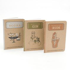 Cocktail Hour Notebook, $10, now featured on Fab.