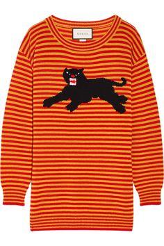 Gucci - Intarsia wool sweater. Chandails  RougesTricotsRayuresPolyvoreChemisesVêtementsModeArtistes 0f57a4c1e84