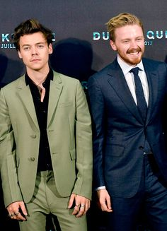 """Actors Harry Styles and Jack Lowden attend the """"Dunkirk"""" Premiere in Dunkerque, France on July 16th, 2017"""