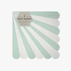 Meri Meri Aqua striped napkins from Party Kitsch. Shop now www.partykitsch.co.uk