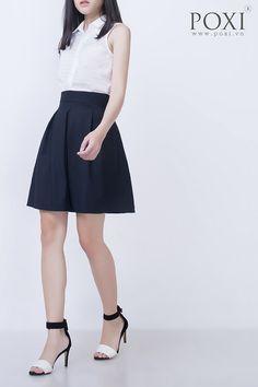 Chân váy xòe xếp ly V26815