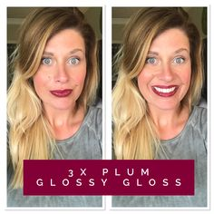 Plum + Glossy Gloss. #lipsense #senegence FB Group: Kissable Lips by Kristin Rouze
