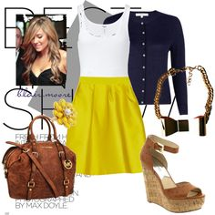 navy & mustard. #outfit #fashion #polyvore