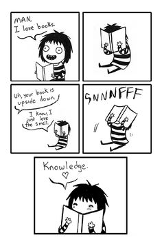 This is me all the time with my books. Comic from http://www.sarahandersenart.com/