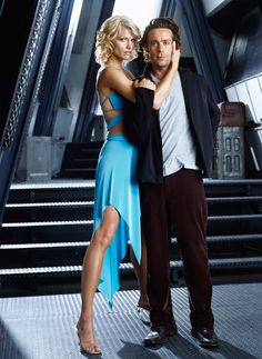 Number Six & Dr Gaius Baltar - Tricia Helfer & James Callis - Battlestar Galactica